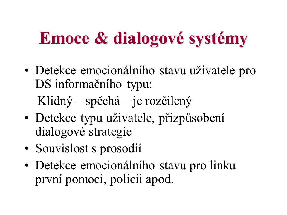 Emoce & dialogové systémy