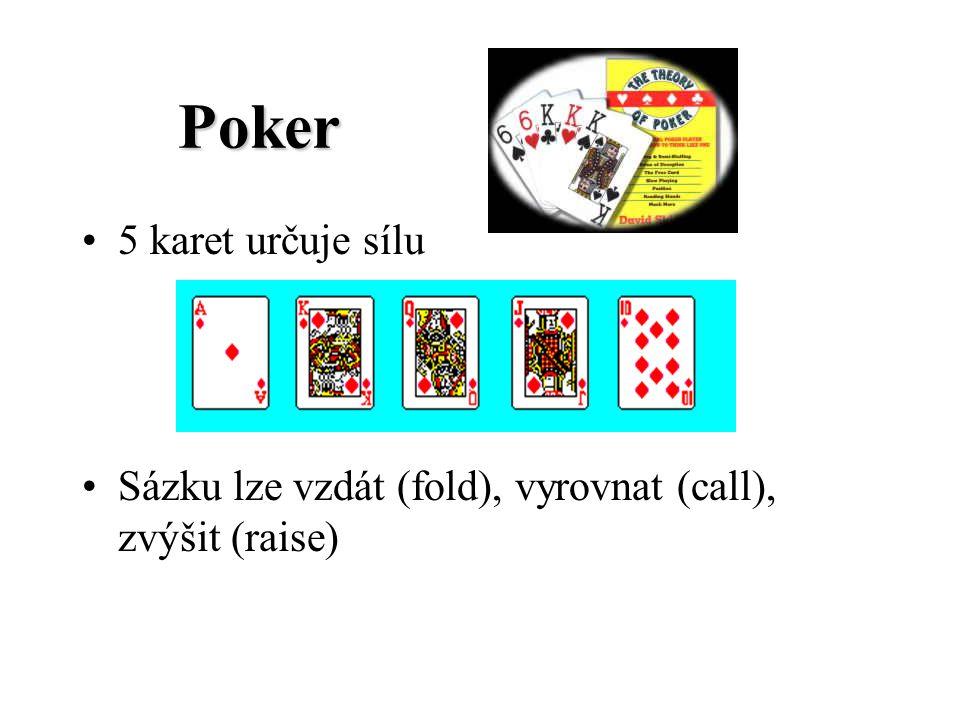 Poker 5 karet určuje sílu