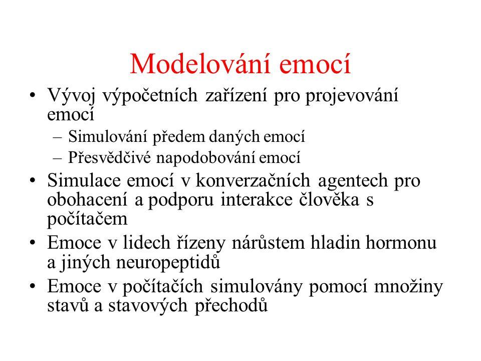 Modelování emocí Vývoj výpočetních zařízení pro projevování emocí