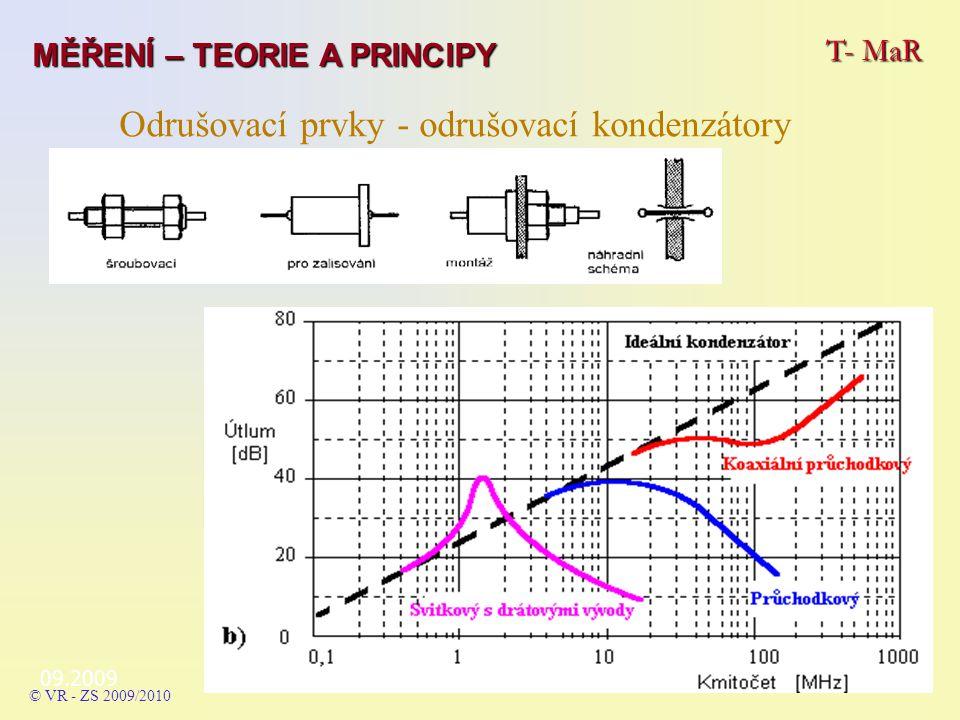 Odrušovací prvky - odrušovací kondenzátory