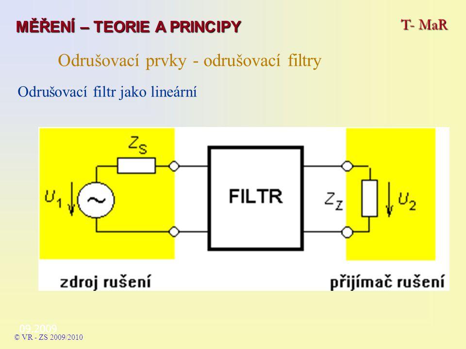 Odrušovací prvky - odrušovací filtry