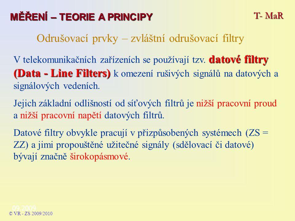 Odrušovací prvky – zvláštní odrušovací filtry