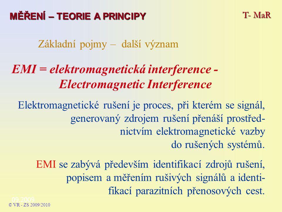 EMI = elektromagnetická interference - Electromagnetic Interference