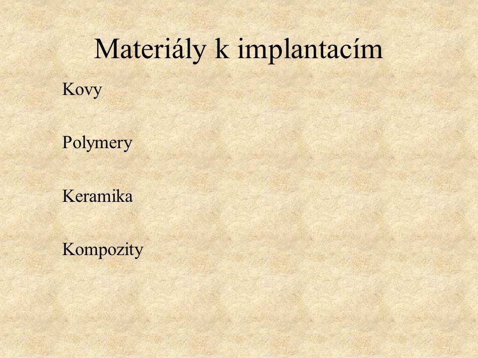 Materiály k implantacím
