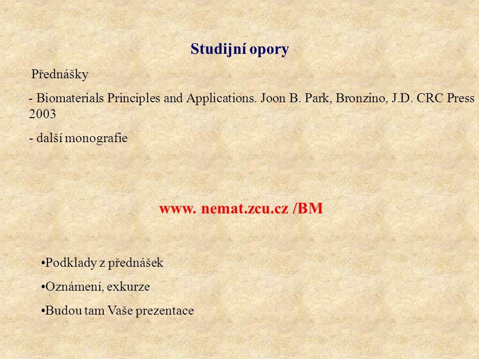 Studijní opory www. nemat.zcu.cz /BM