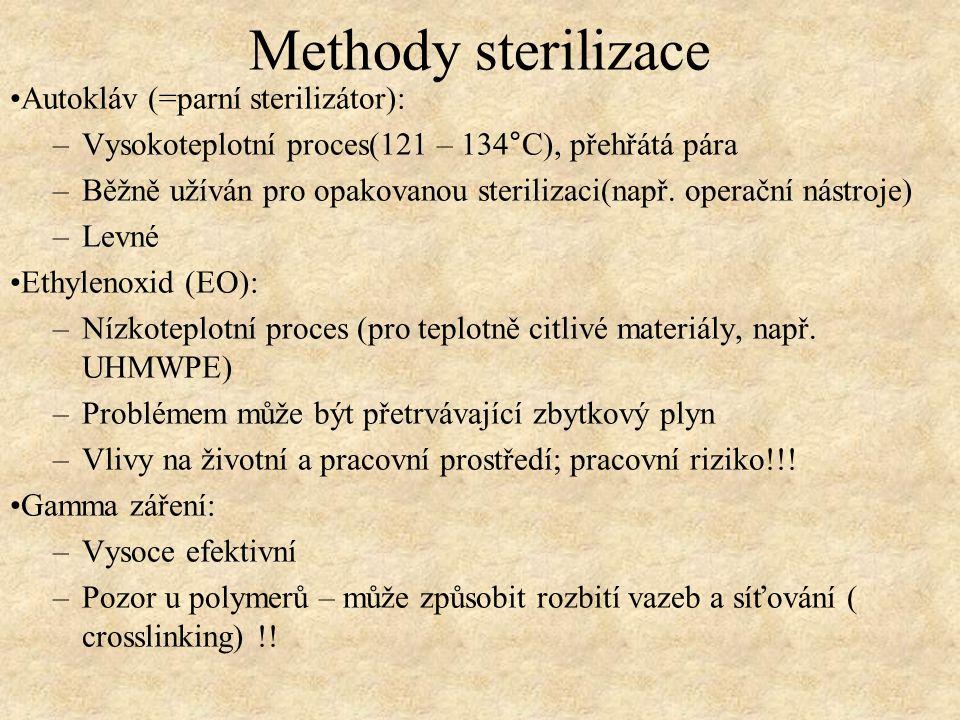 Methody sterilizace Autokláv (=parní sterilizátor):