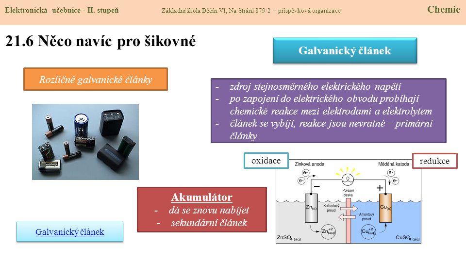 Rozličné galvanické články