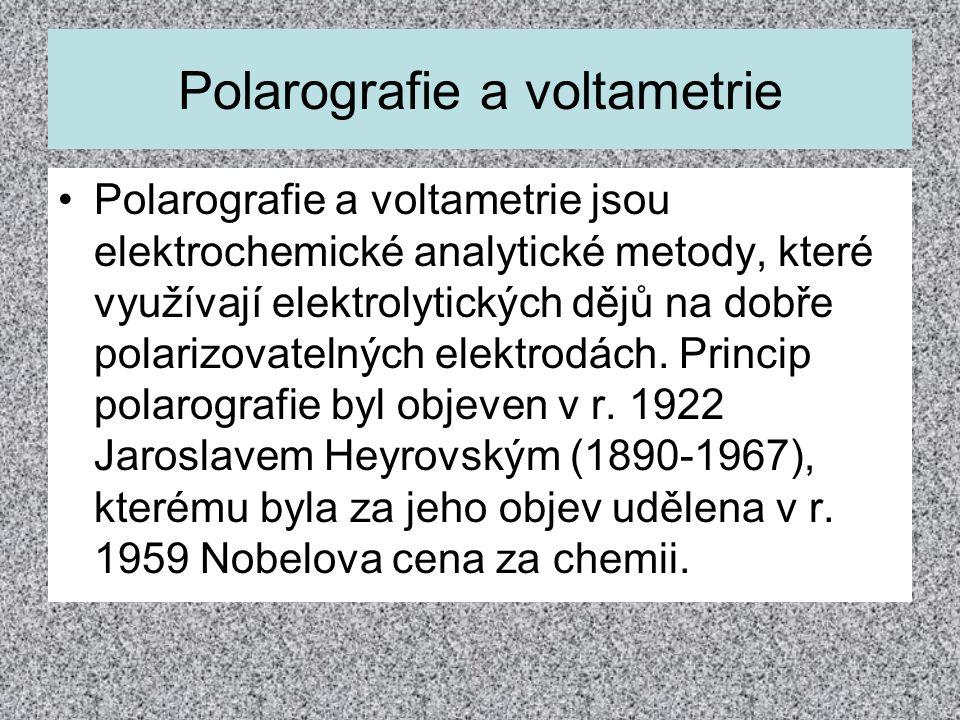 Polarografie a voltametrie