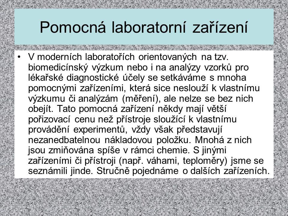 Pomocná laboratorní zařízení