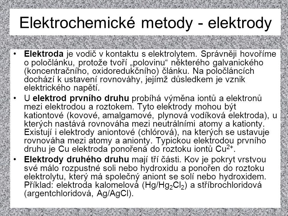 Elektrochemické metody - elektrody