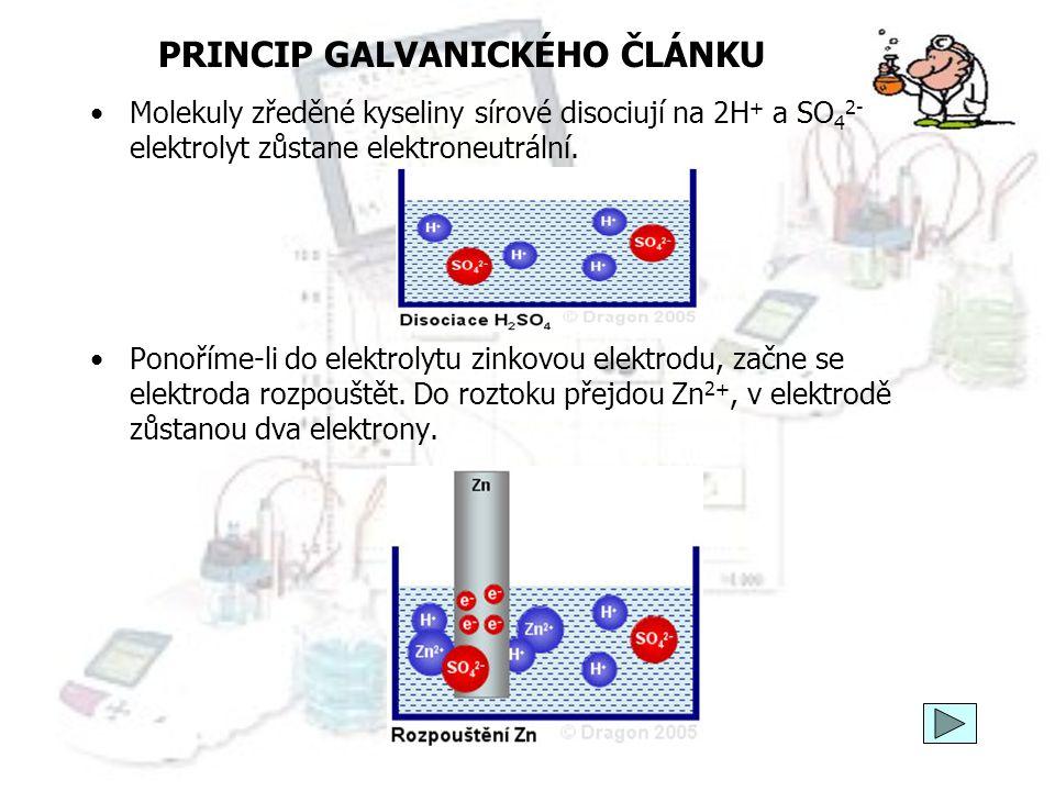 PRINCIP GALVANICKÉHO ČLÁNKU