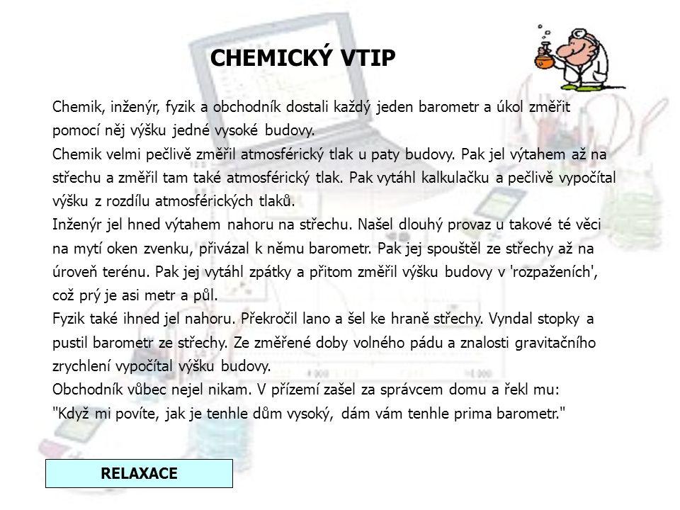 CHEMICKÝ VTIP