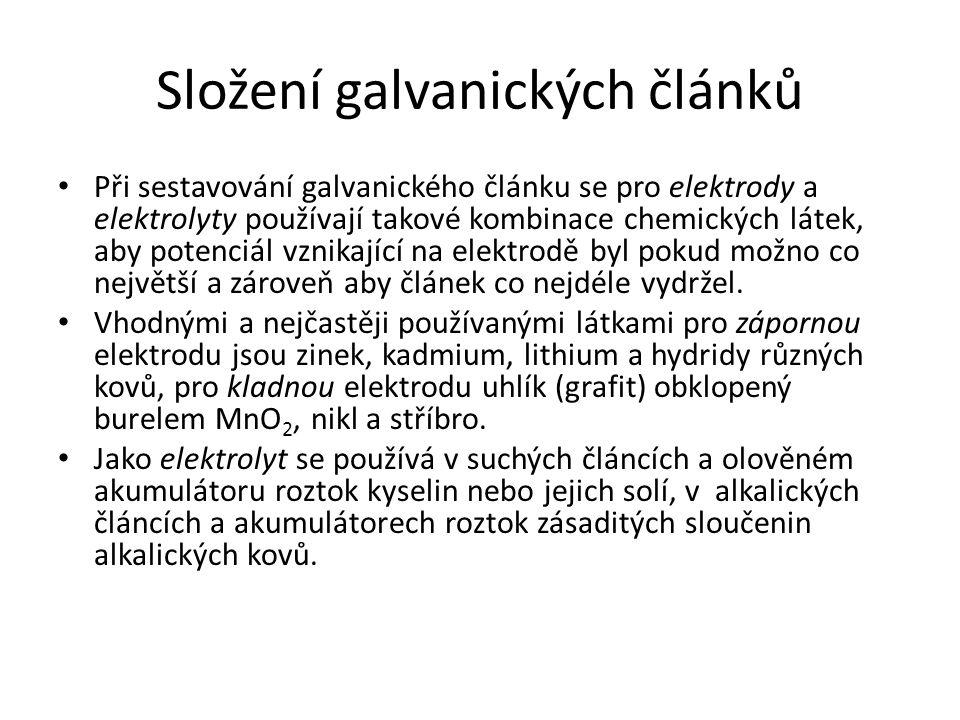 Složení galvanických článků