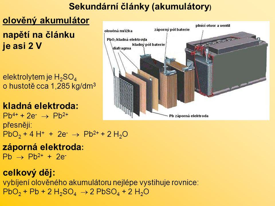 Sekundární články (akumulátory)