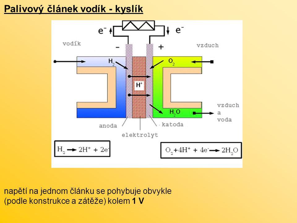 Palivový článek vodík - kyslík