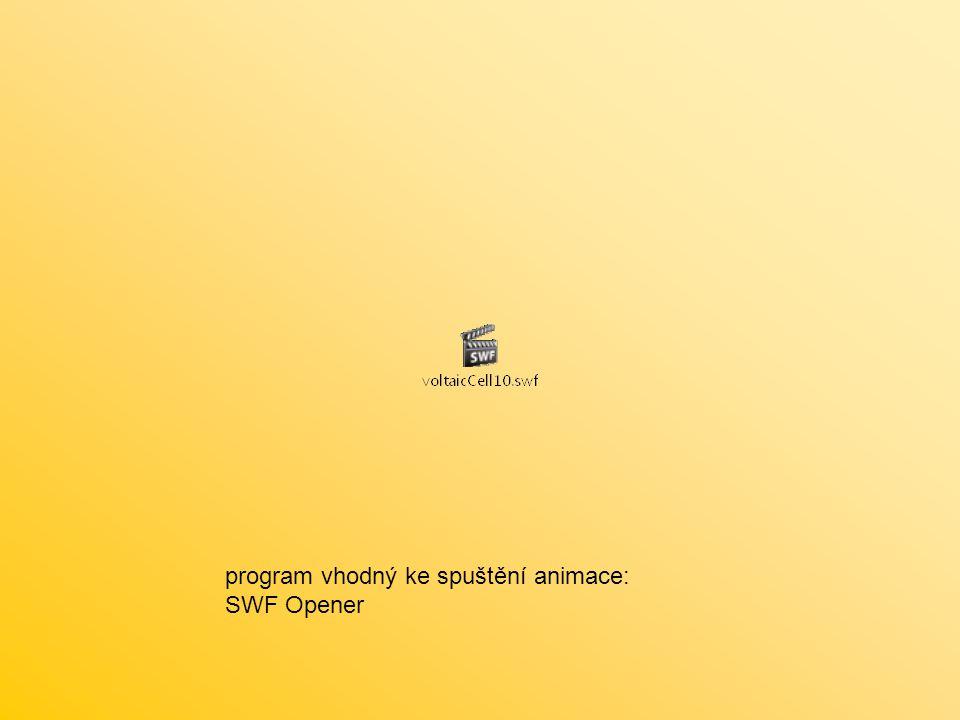 program vhodný ke spuštění animace: