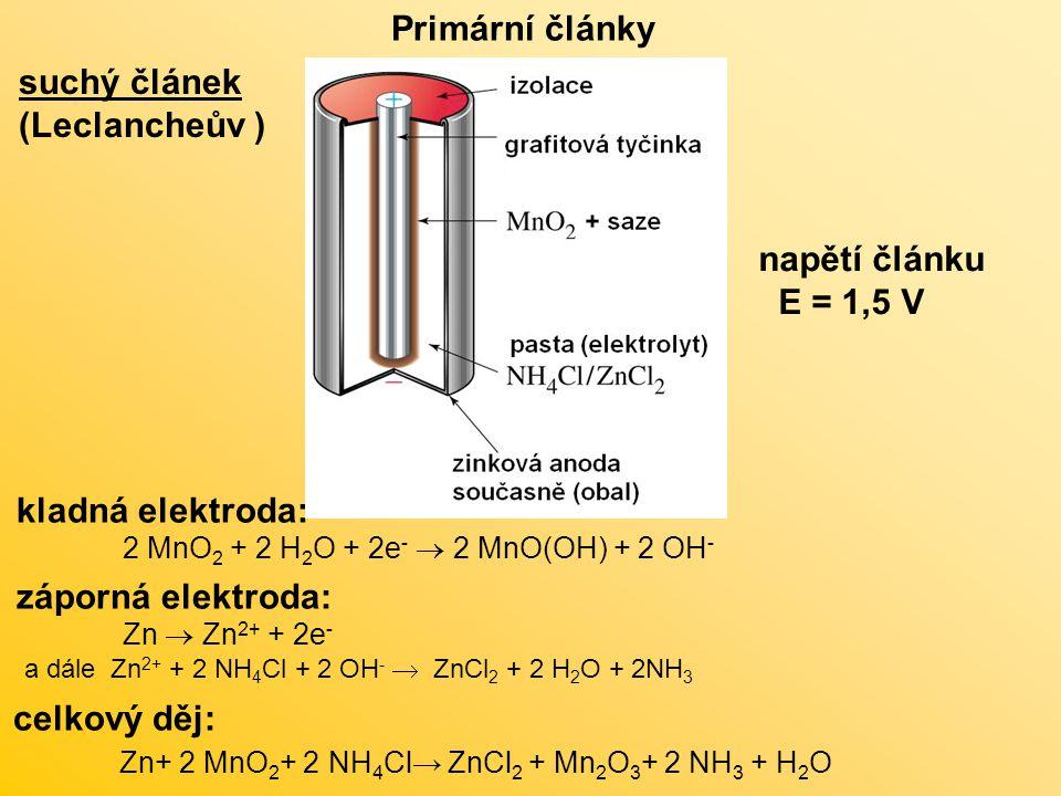 Zn+ 2 MnO2+ 2 NH4Cl→ ZnCl2 + Mn2O3+ 2 NH3 + H2O