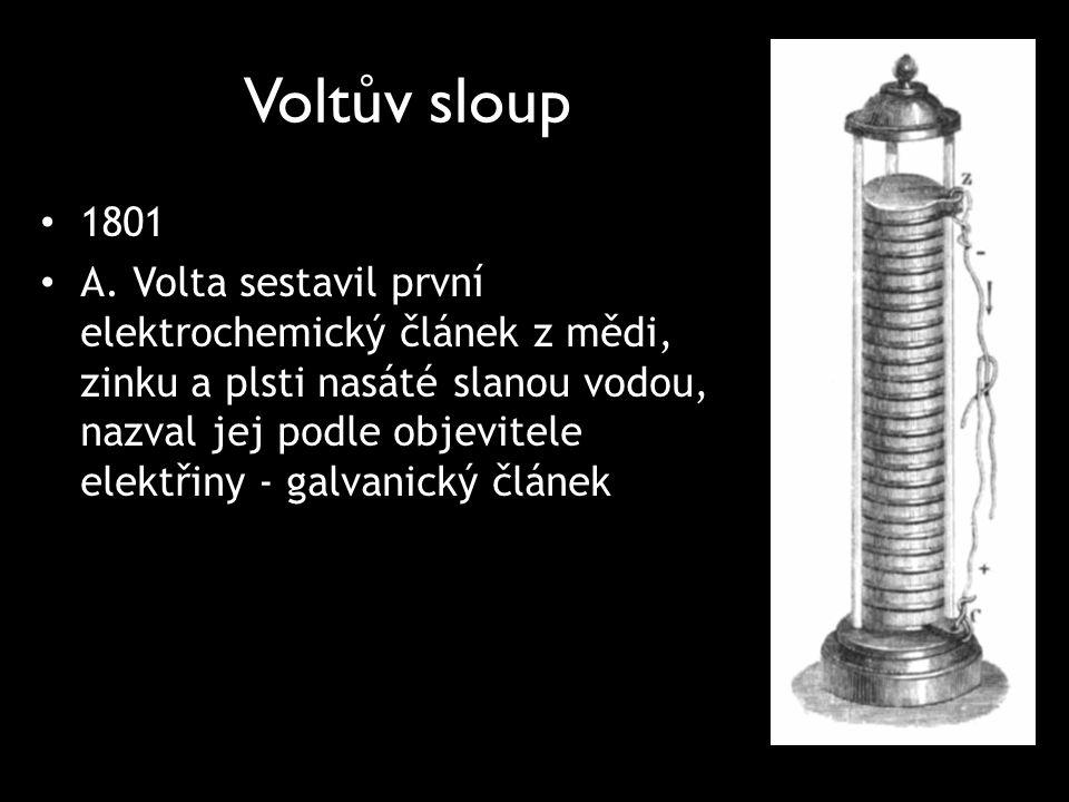Voltův sloup 1801.
