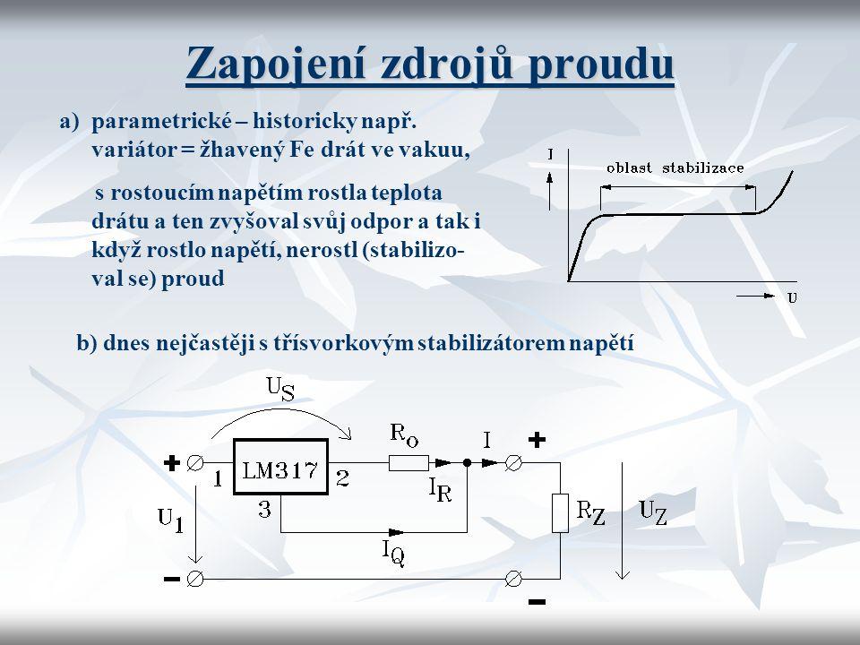 Zapojení zdrojů proudu