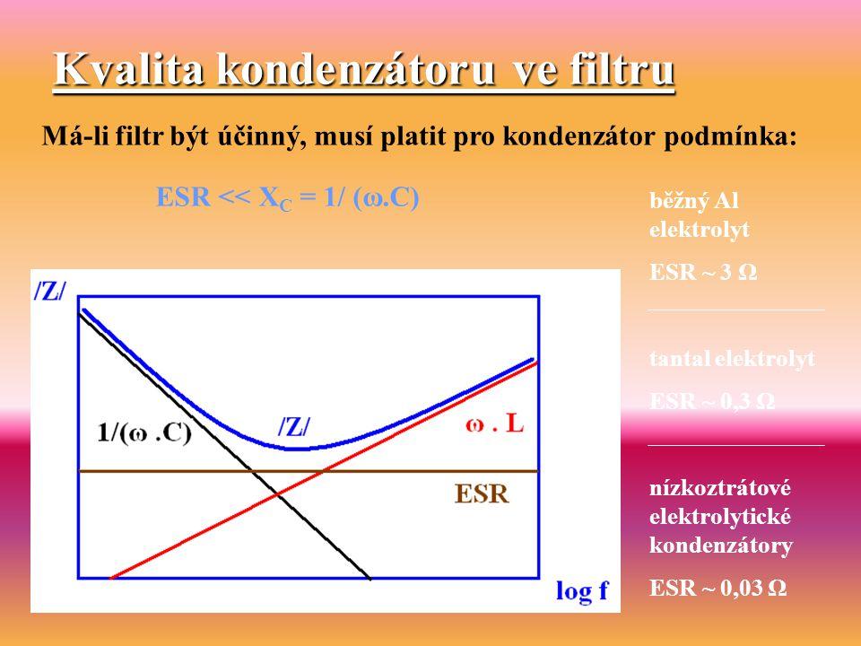 Kvalita kondenzátoru ve filtru