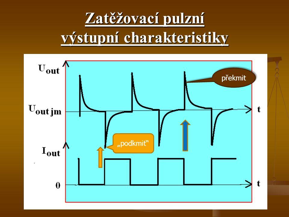 Zatěžovací pulzní výstupní charakteristiky