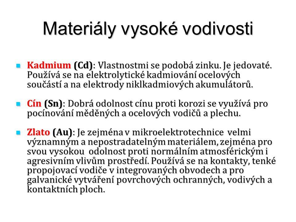 Materiály vysoké vodivosti
