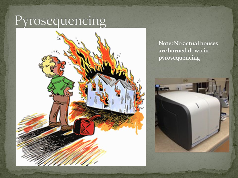 Pyrosequencing Note: No actual houses are burned down in
