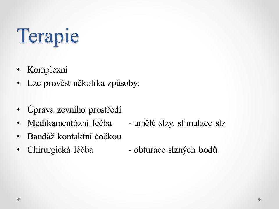 Terapie Komplexní Lze provést několika způsoby: