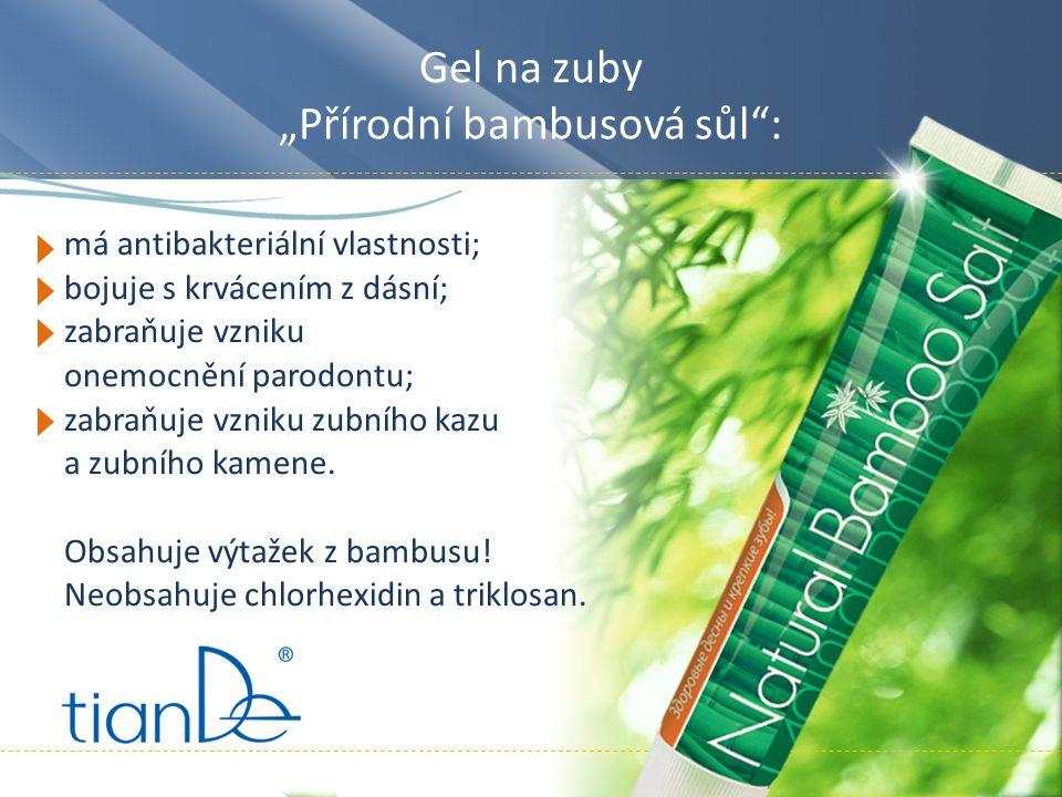 """Gel na zuby """"Přírodní bambusová sůl :"""