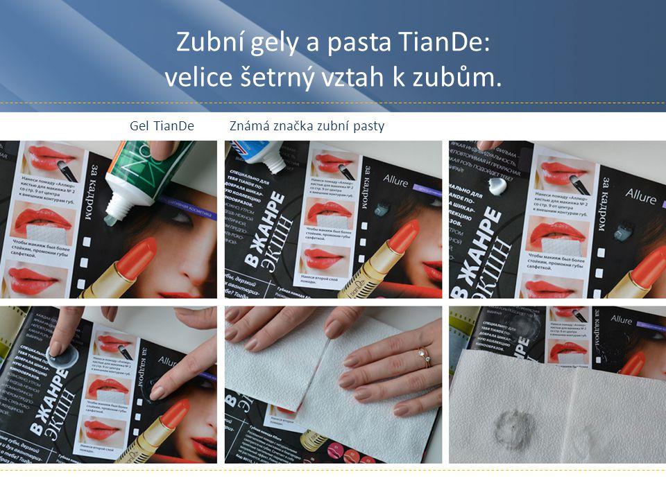 Zubní gely a pasta TianDe: velice šetrný vztah k zubům.