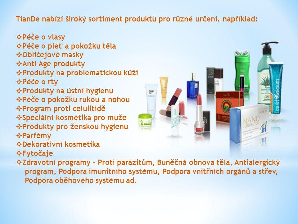 TianDe nabízí široký sortiment produktů pro různé určení, například:
