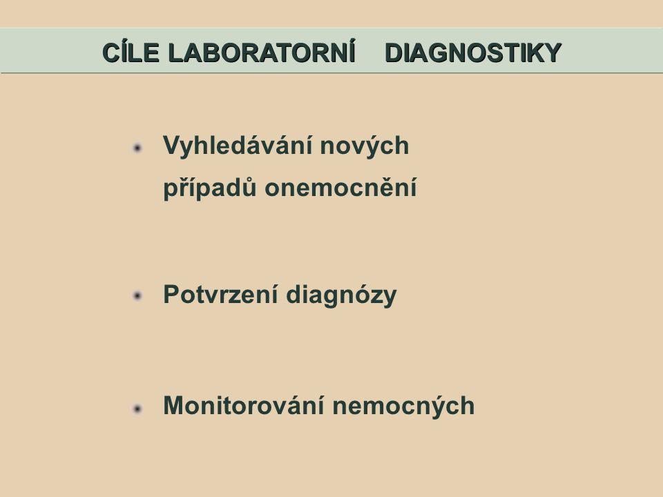 CÍLE LABORATORNÍ DIAGNOSTIKY