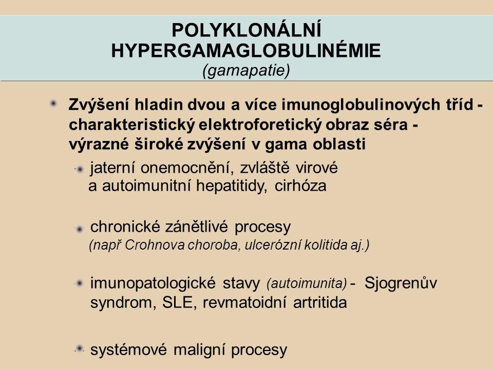 POLYKLONÁLNÍ HYPERGAMAGLOBULINÉMIE