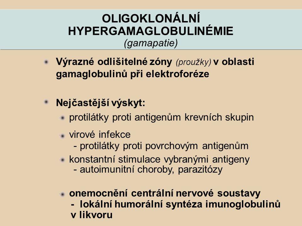 OLIGOKLONÁLNÍ HYPERGAMAGLOBULINÉMIE