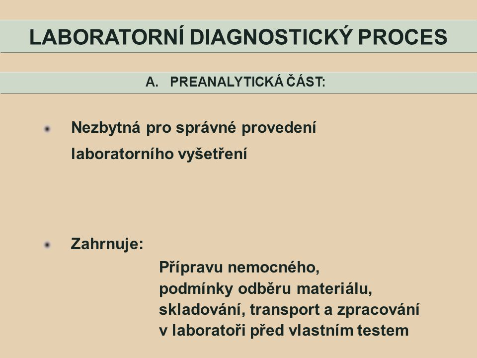 LABORATORNÍ DIAGNOSTICKÝ PROCES