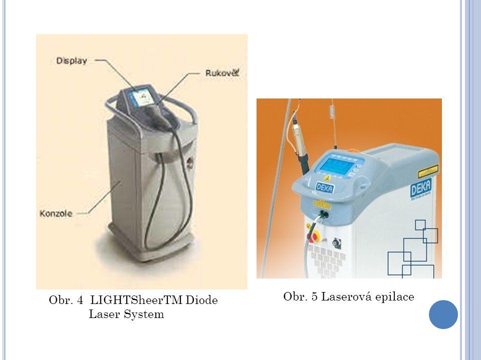 Obr. 5 Laserová epilace Obr. 4 LIGHTSheerTM Diode Laser System