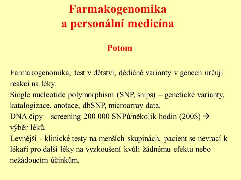 Farmakogenomika a personální medicína