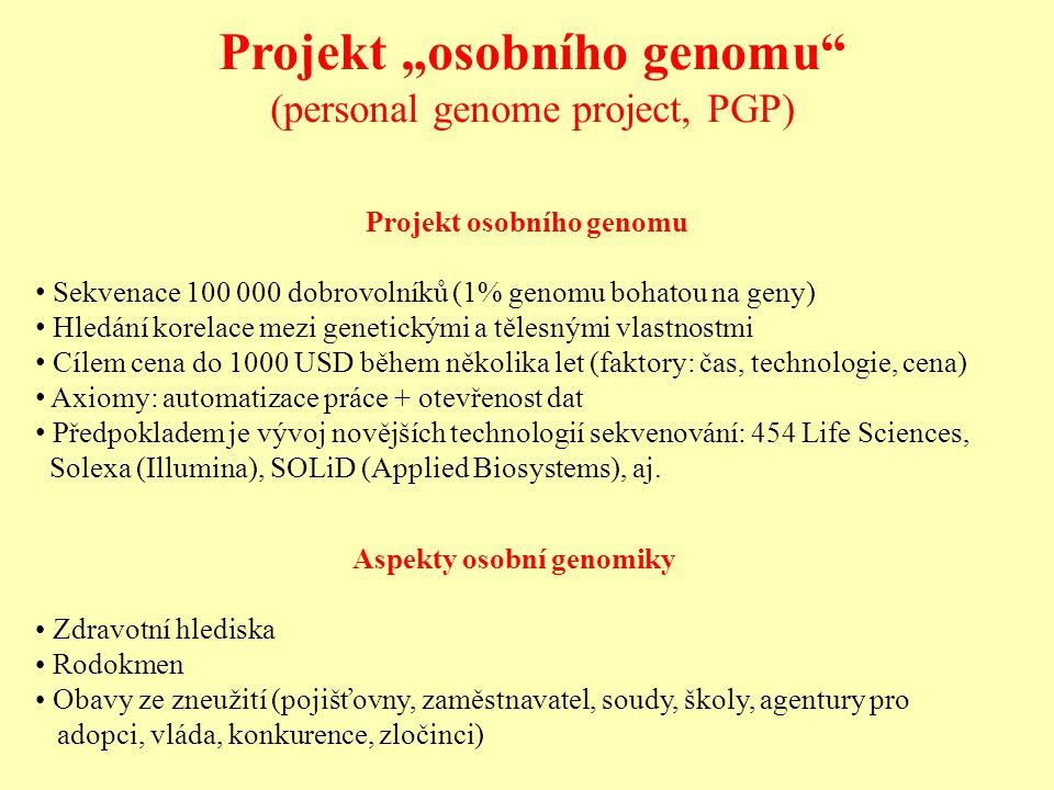 """Projekt """"osobního genomu"""