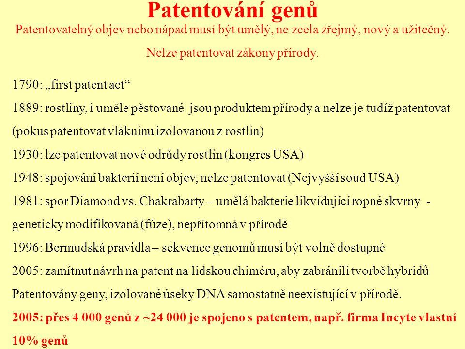 Nelze patentovat zákony přírody.