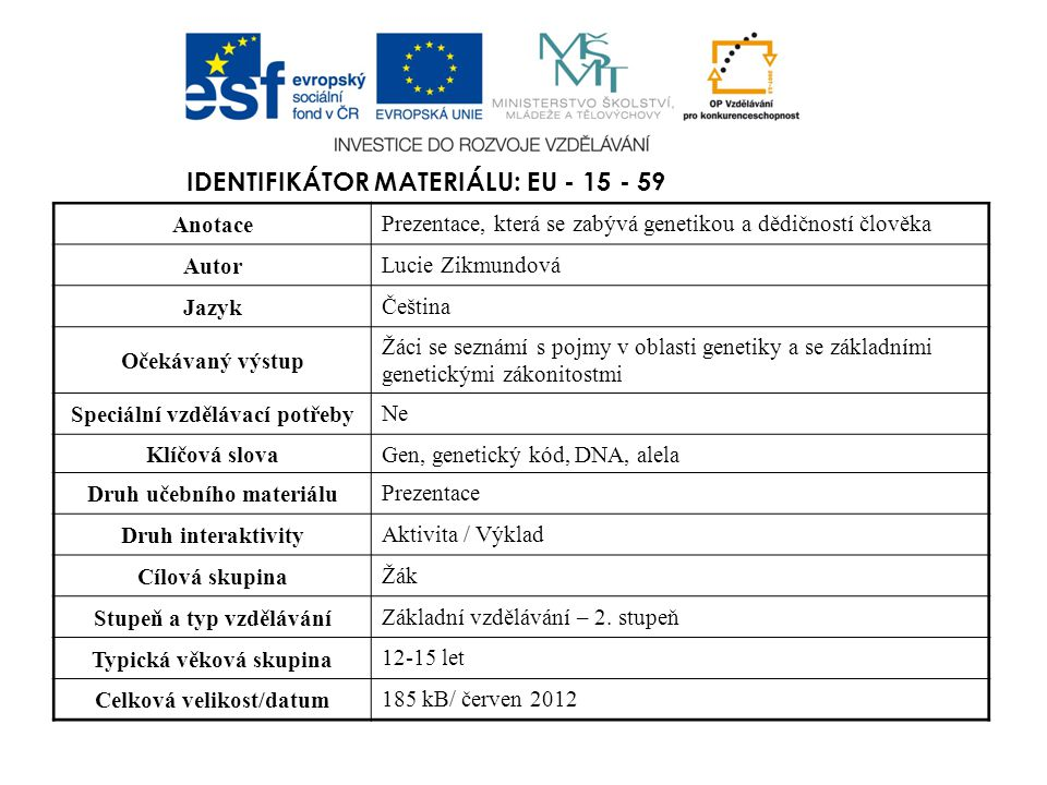 Identifikátor materiálu: EU - 15 - 59