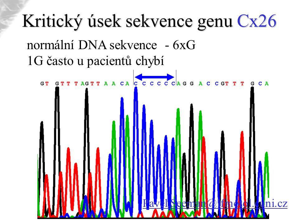 Kritický úsek sekvence genu Cx26