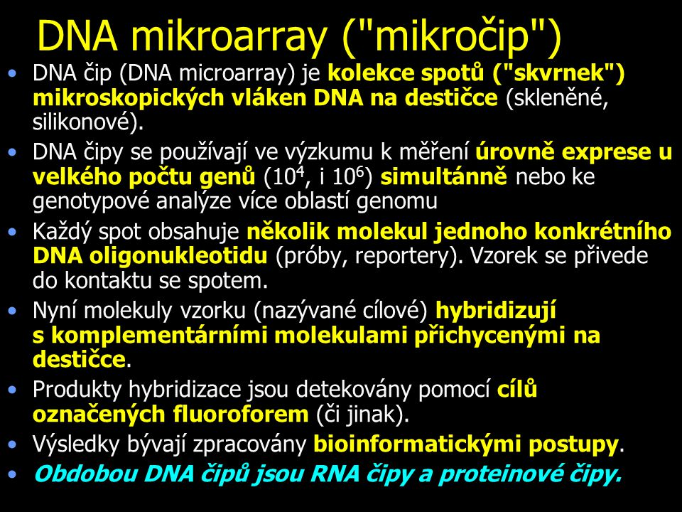 DNA mikroarray ( mikročip )