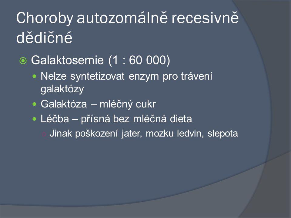 Choroby autozomálně recesivně dědičné