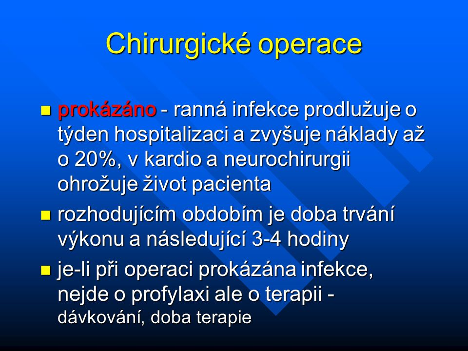 Chirurgické operace