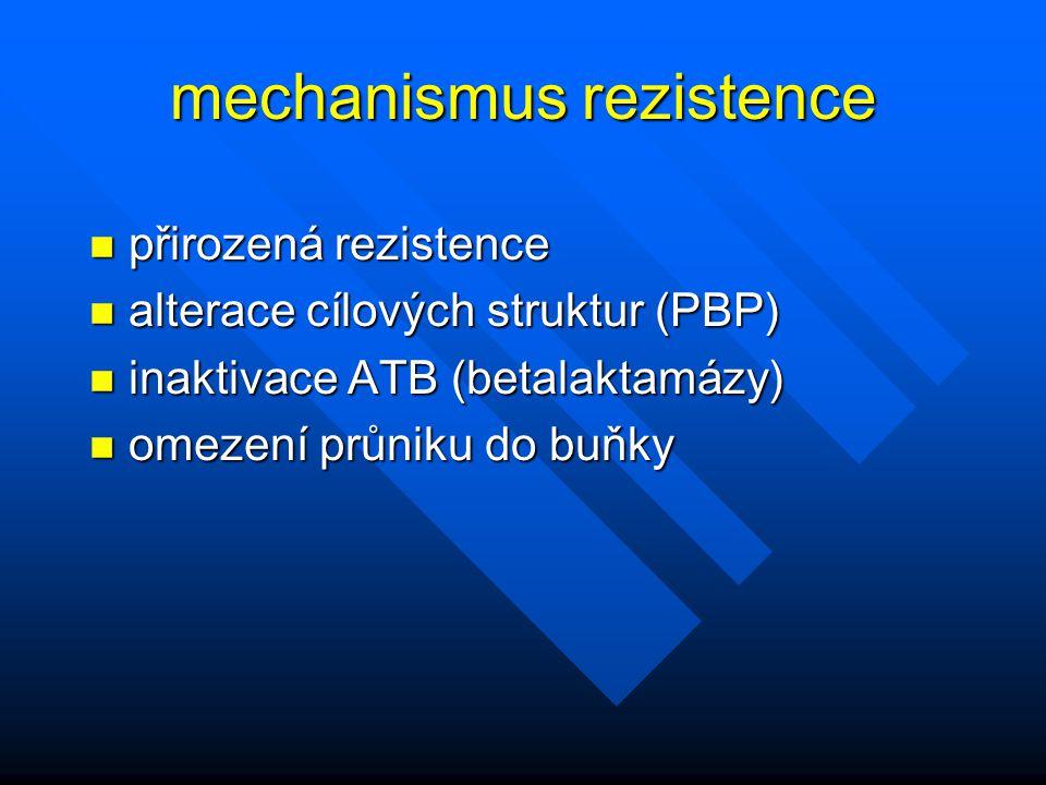 mechanismus rezistence