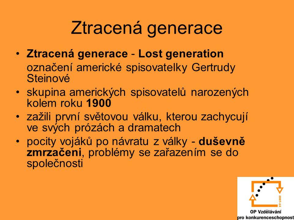 Ztracená generace Ztracená generace - Lost generation