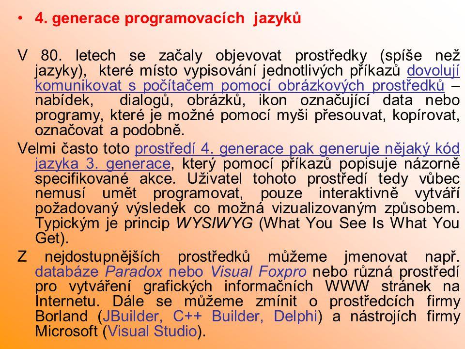 4. generace programovacích jazyků