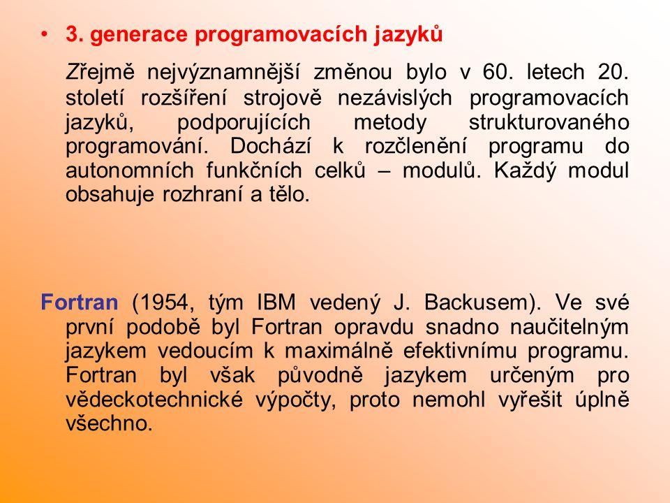 3. generace programovacích jazyků