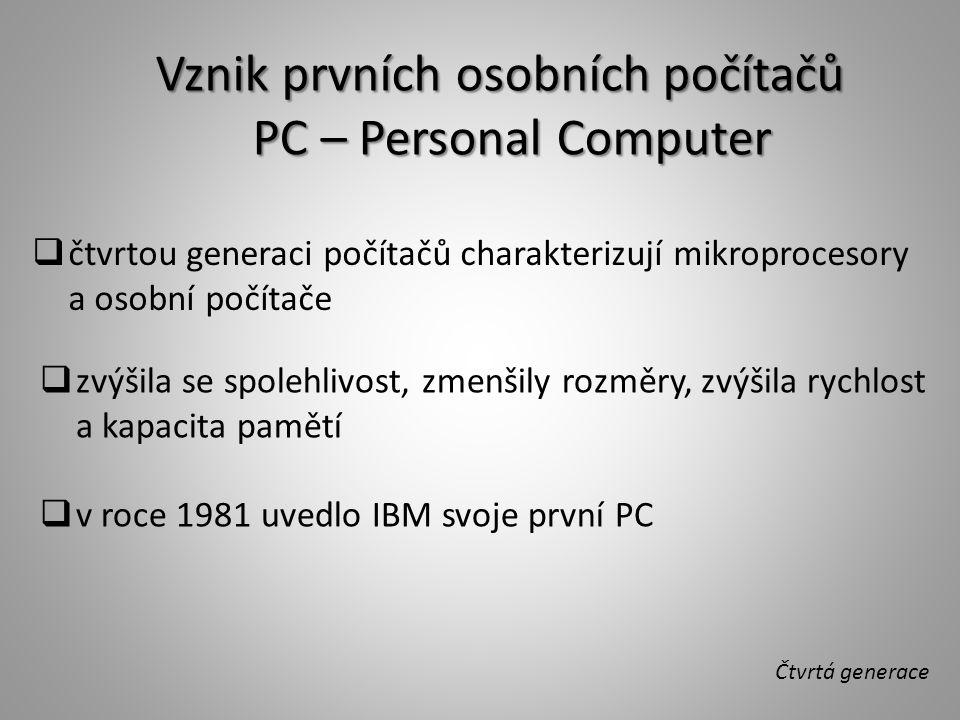 Vznik prvních osobních počítačů