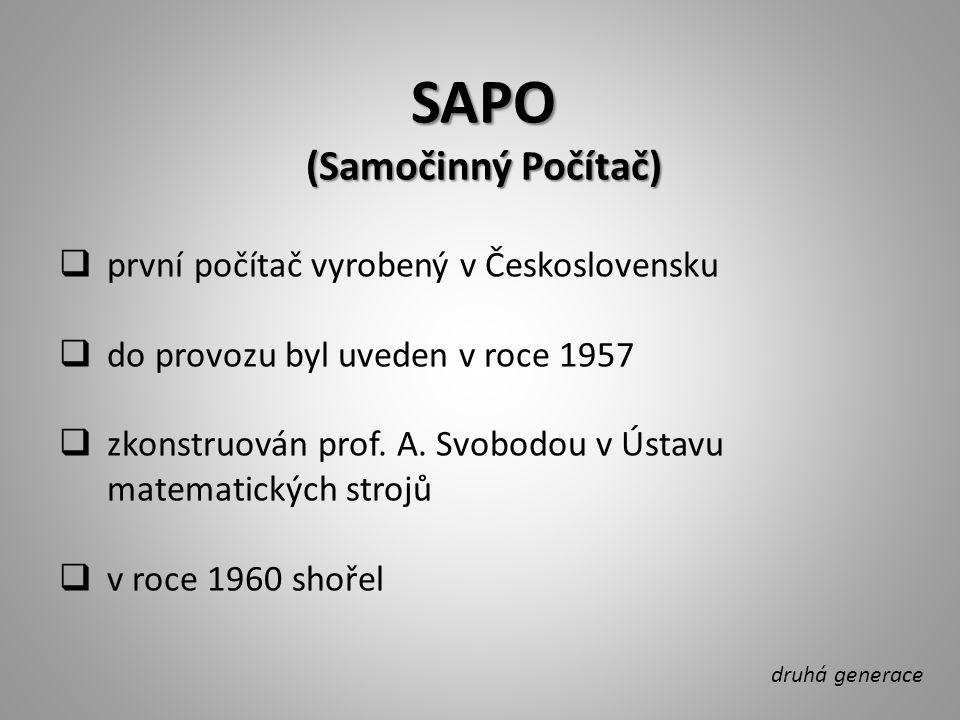 SAPO (Samočinný Počítač) první počítač vyrobený v Československu